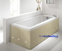 Luxury Matt Cream 2 Piece adjustable Bath Panels with LED Lights